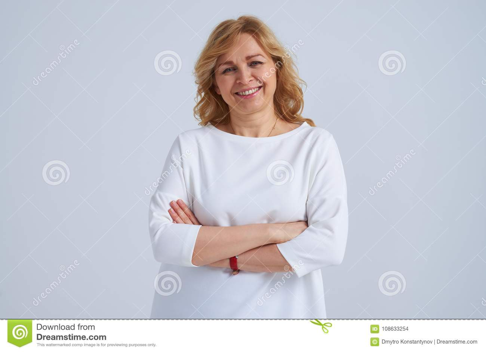 Mature posing woman