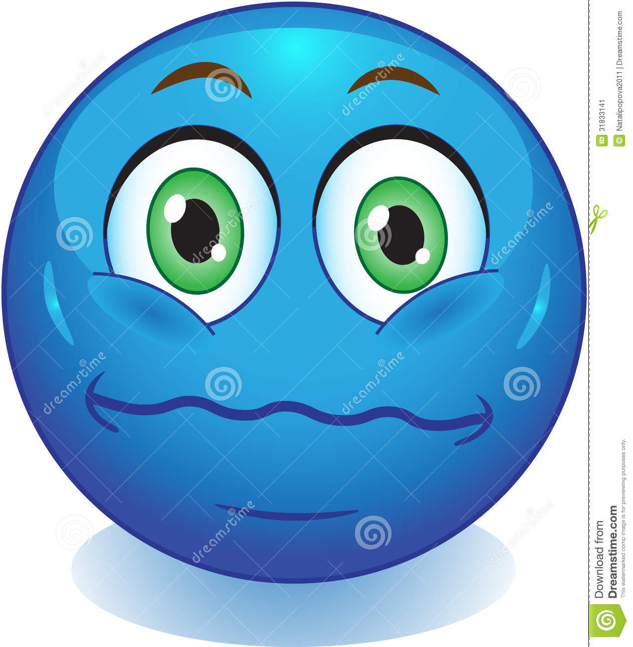 Smiley neutral stock illustration. Image of mood, ball ...