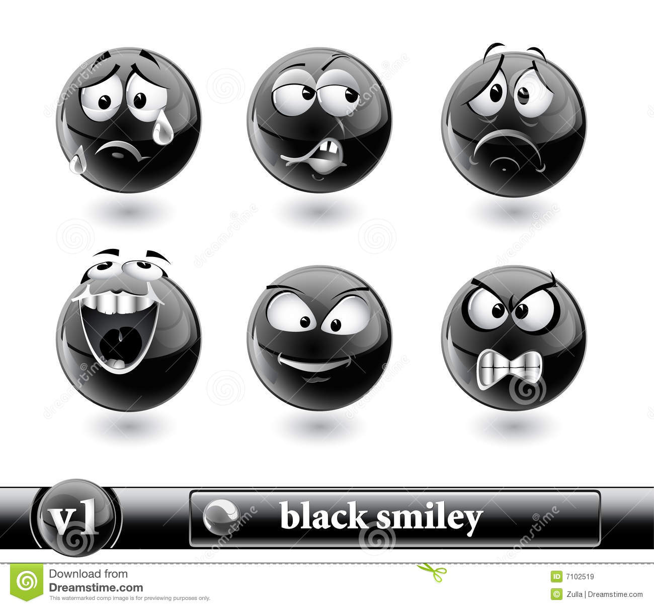 Smiley noir vol1 images libres de droits image 7102519 - Smiley noir et blanc ...