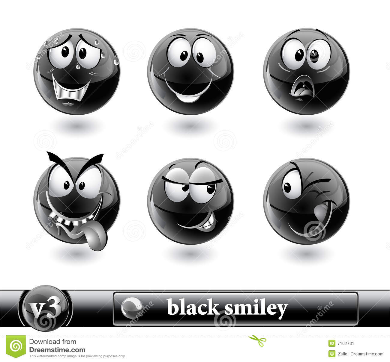 Smiley noir vol3 image stock image 7102731 - Smiley noir et blanc ...