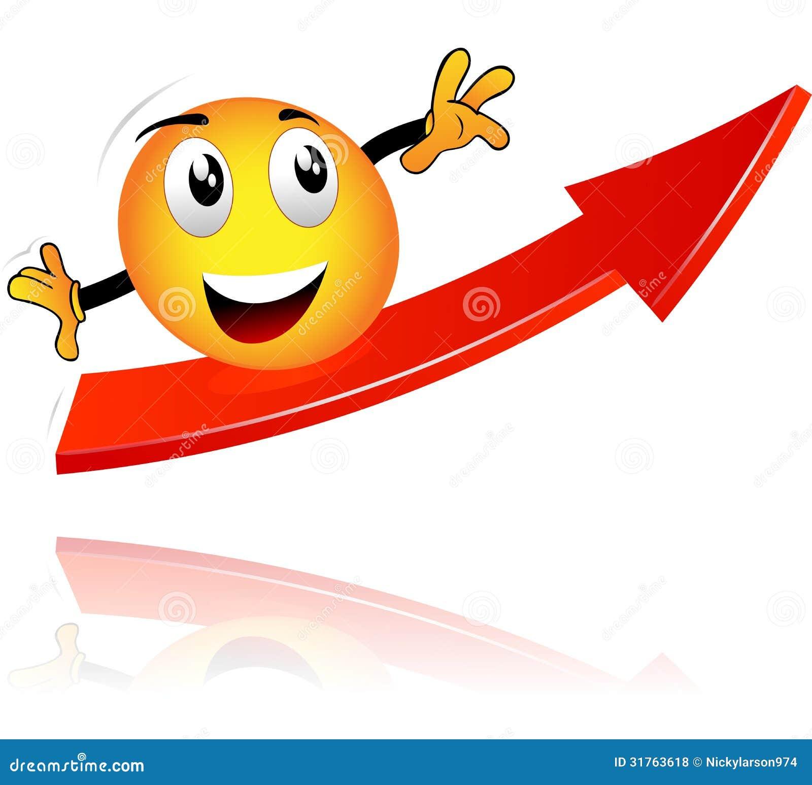 Smiley op een pijl royalty vrije stock foto s afbeelding 31763618