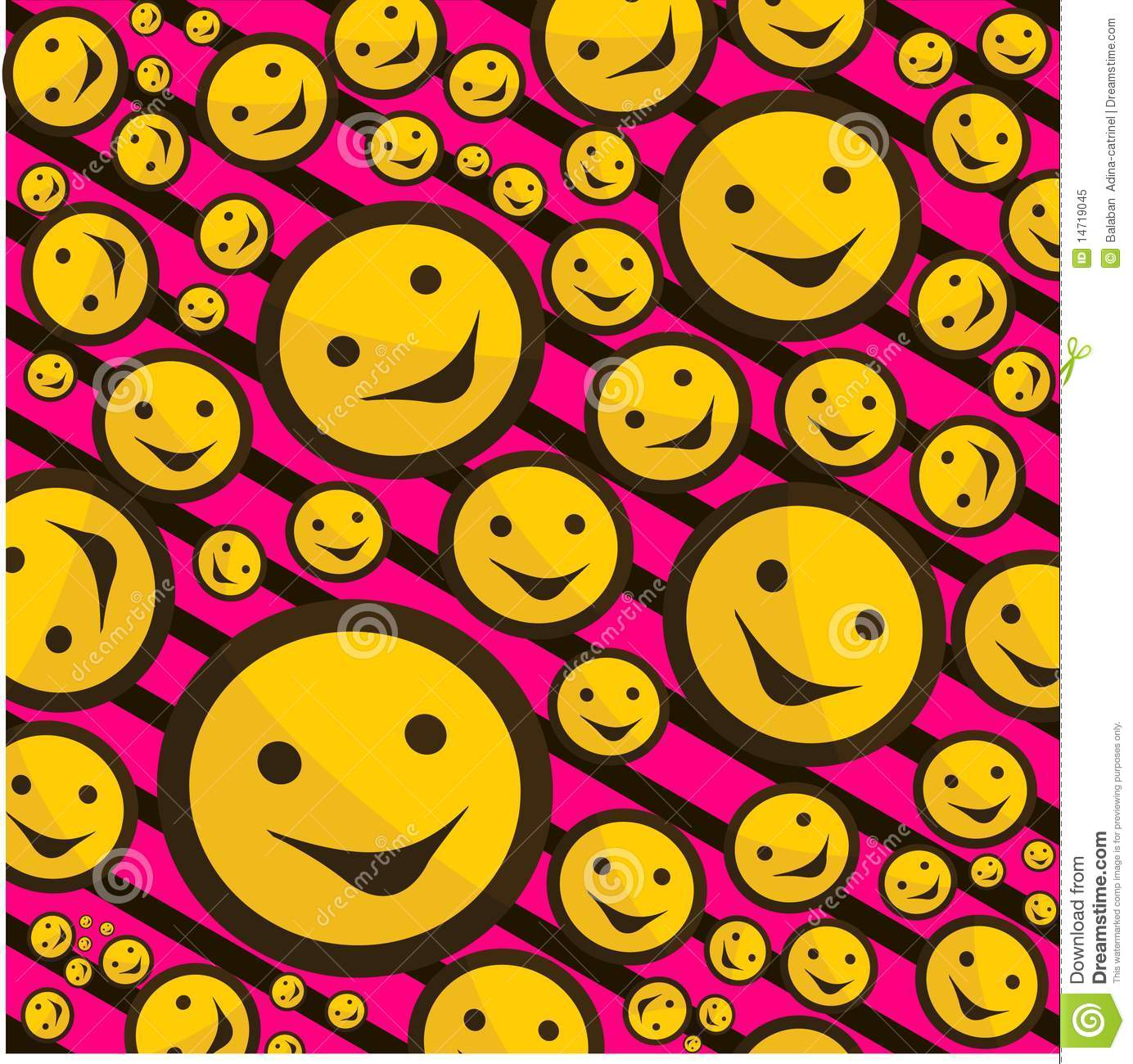 Smiley Signs On Pink Background Stock Vector - Image: 14719045