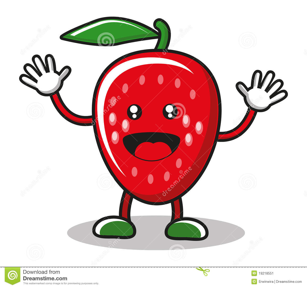 Smiley strawberry stock vector. Illustration of health ...
