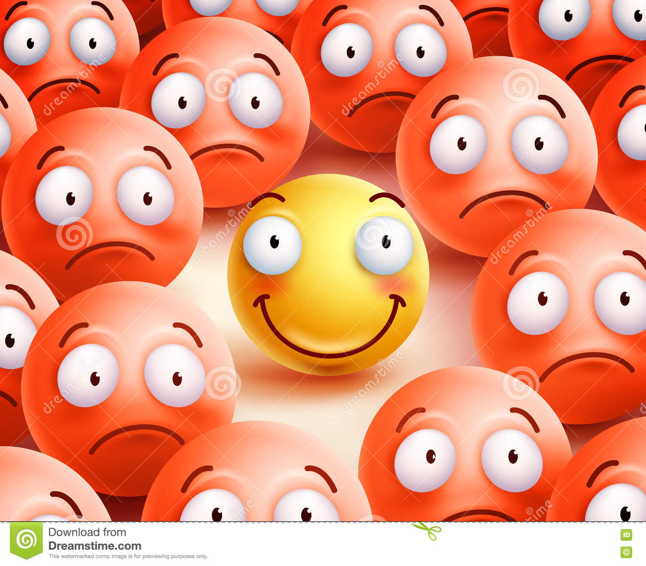 Smiley Vector Character The Only Smile Face Showing
