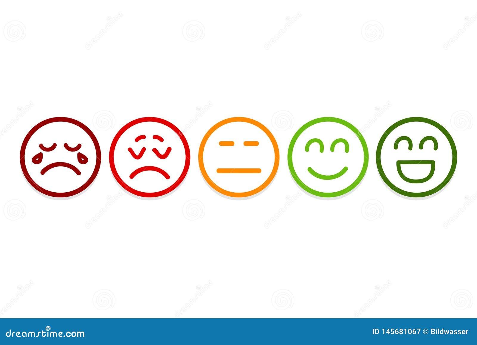 Smileyen v?nder mot v?rderingssymboler Kundgranskning, värdering, som begrepp