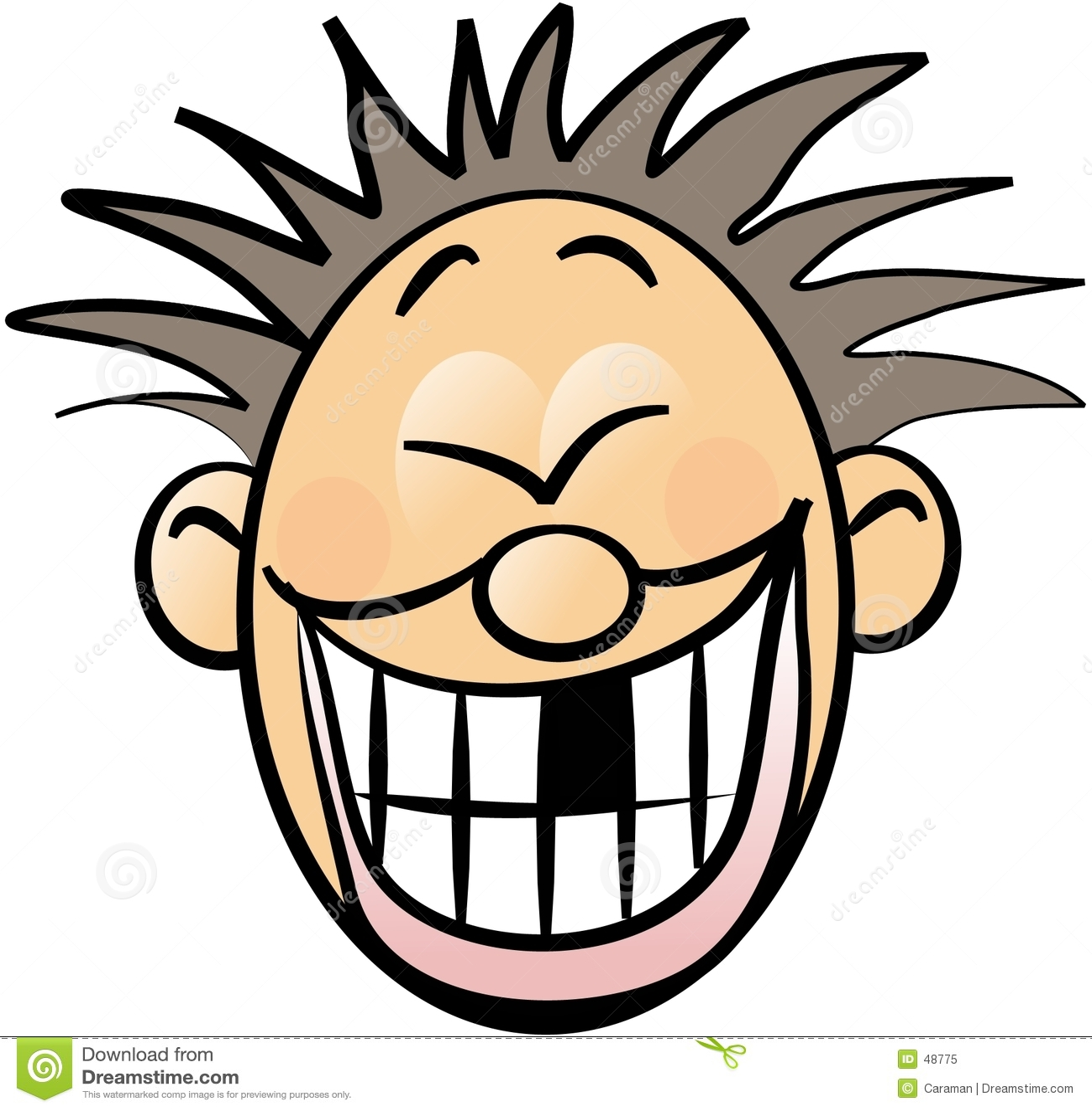 Smileygesicht mit einem fehlenden Zahn