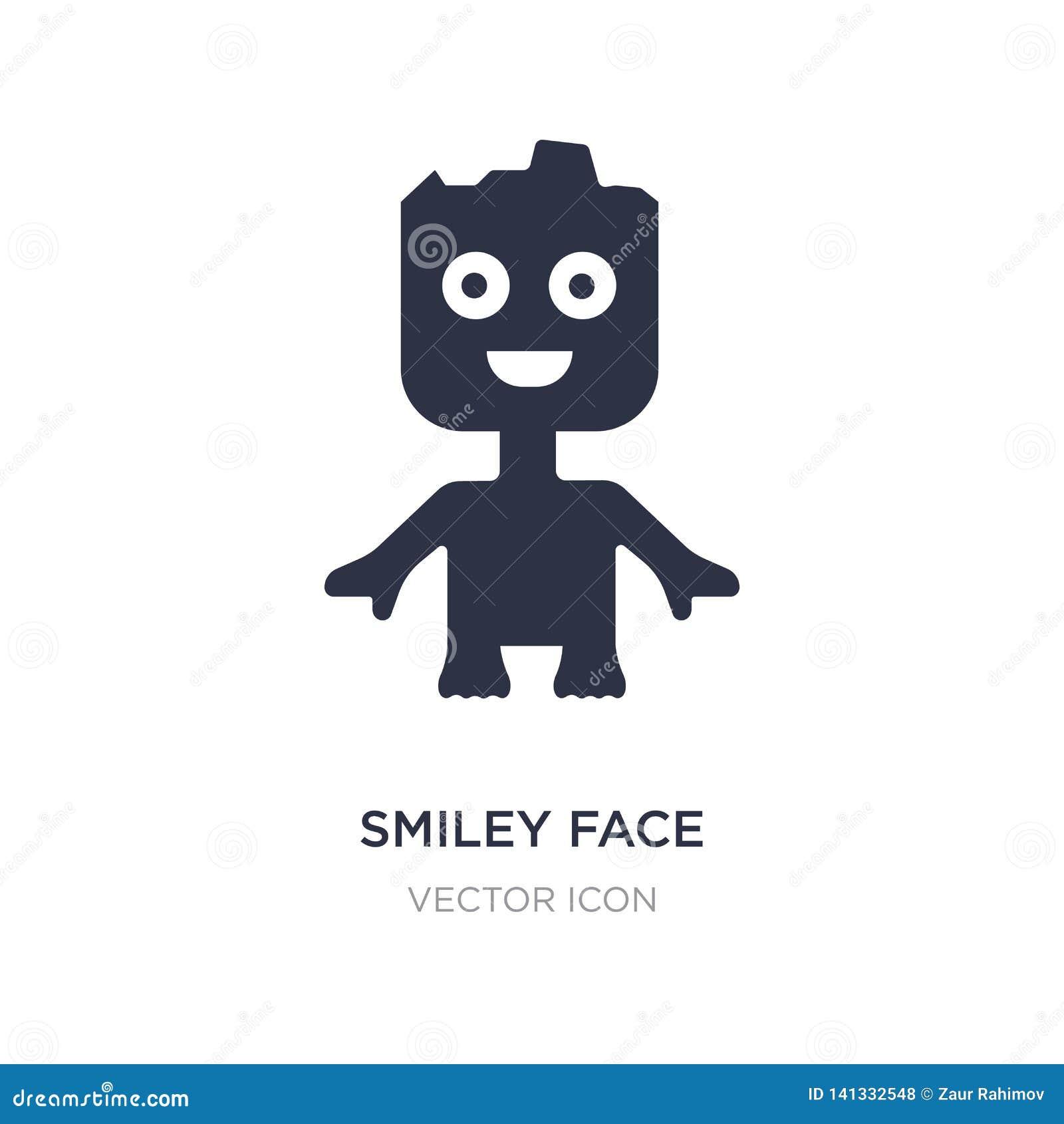 Smileygesichtsikone auf weißem Hintergrund Einfache Elementillustration vom Nächstenliebekonzept