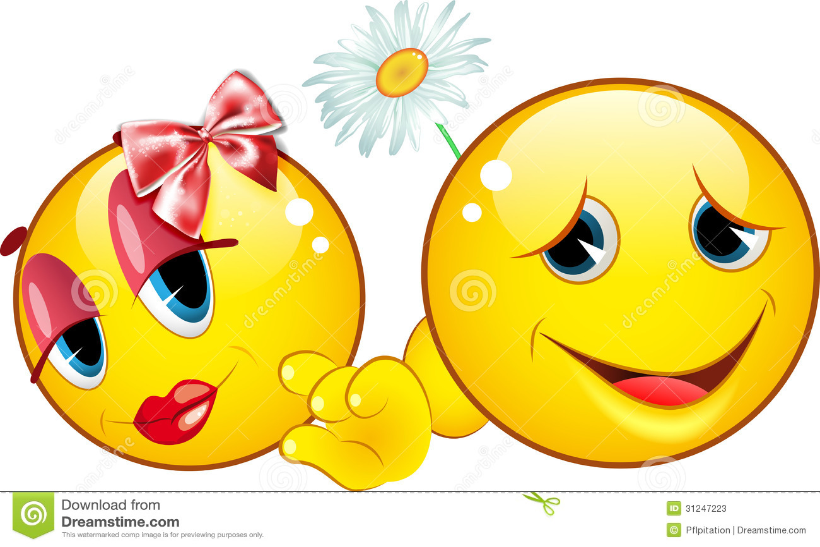 Flirten met emoticons