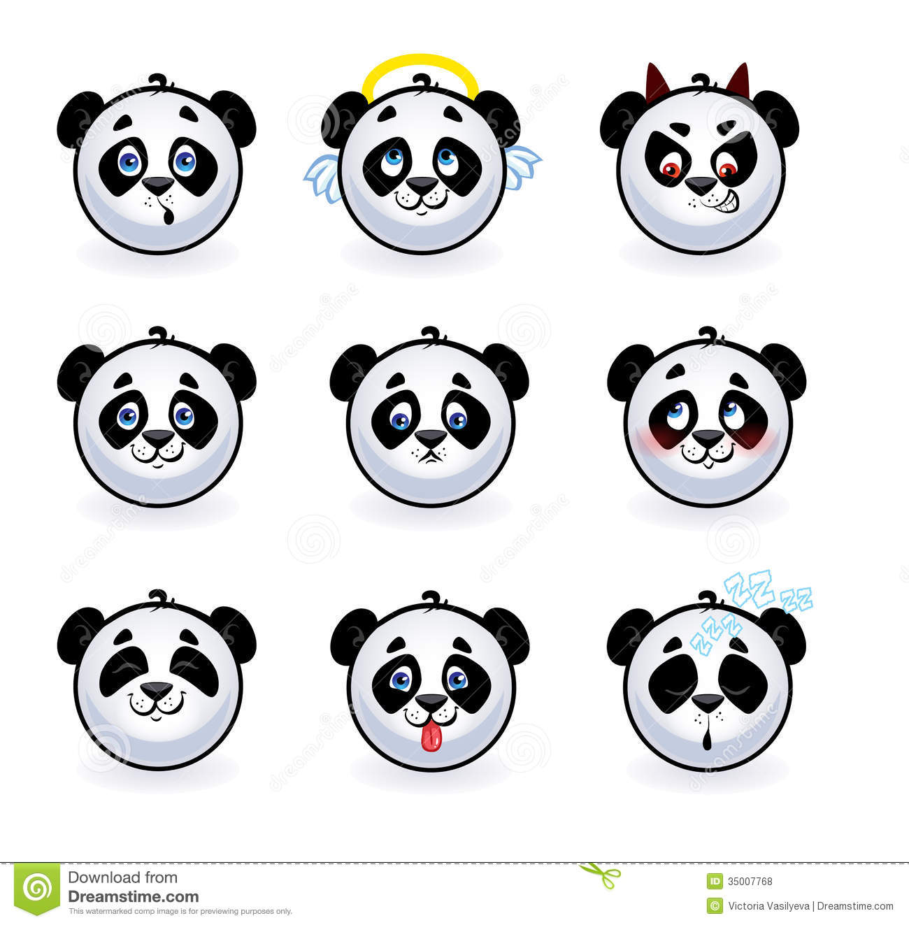 Smileys Pandas Royalty Free Stock Photos Image 35007768