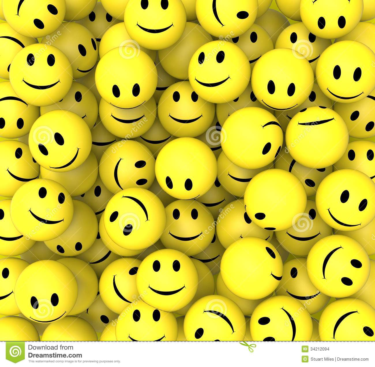 Smileys show happy cheerful faces stock images image 34212094