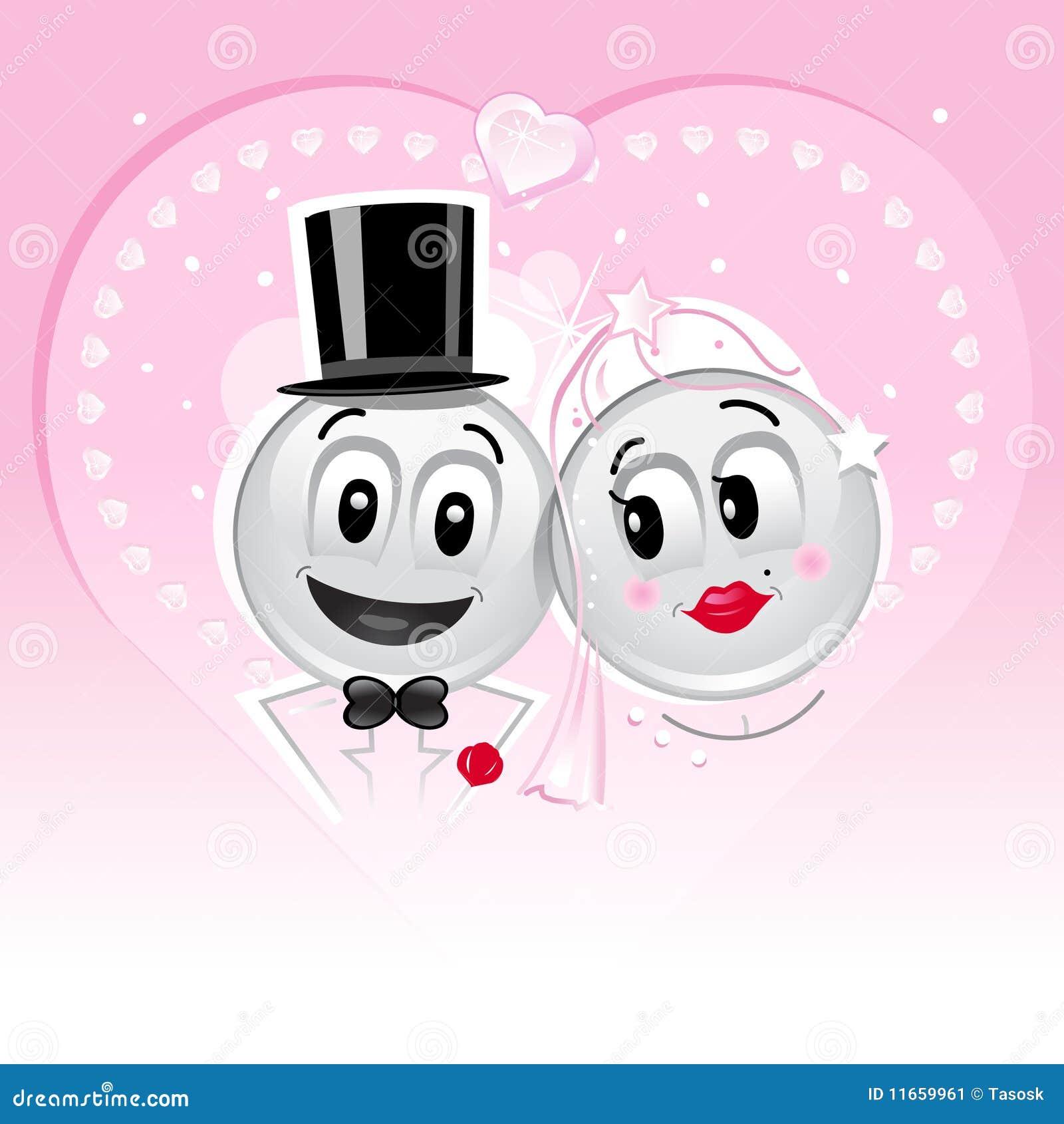 Smileys Wedding Stock Image - Image: 11659961