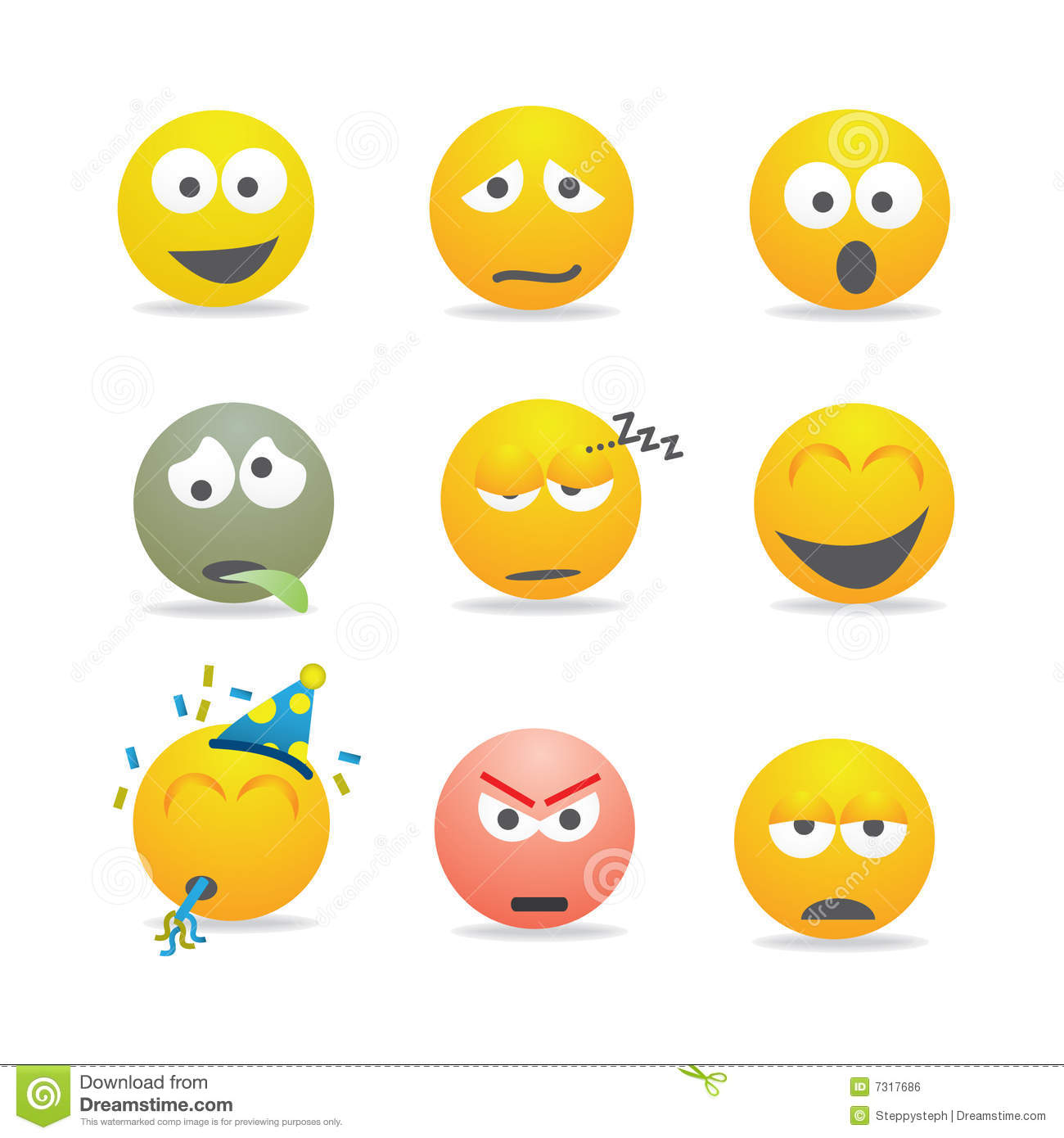 Smilies Royalty Free Stock Image - Image: 7317686: www.dreamstime.com/royalty-free-stock-image-smilies-image7317686