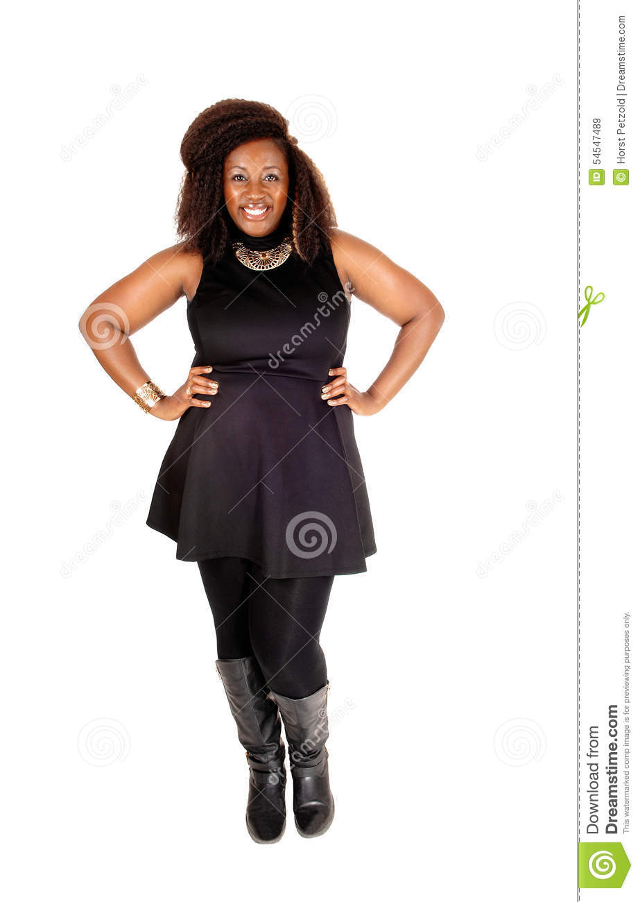 Smiling African Woman Standing Stock Photo Image 54547489