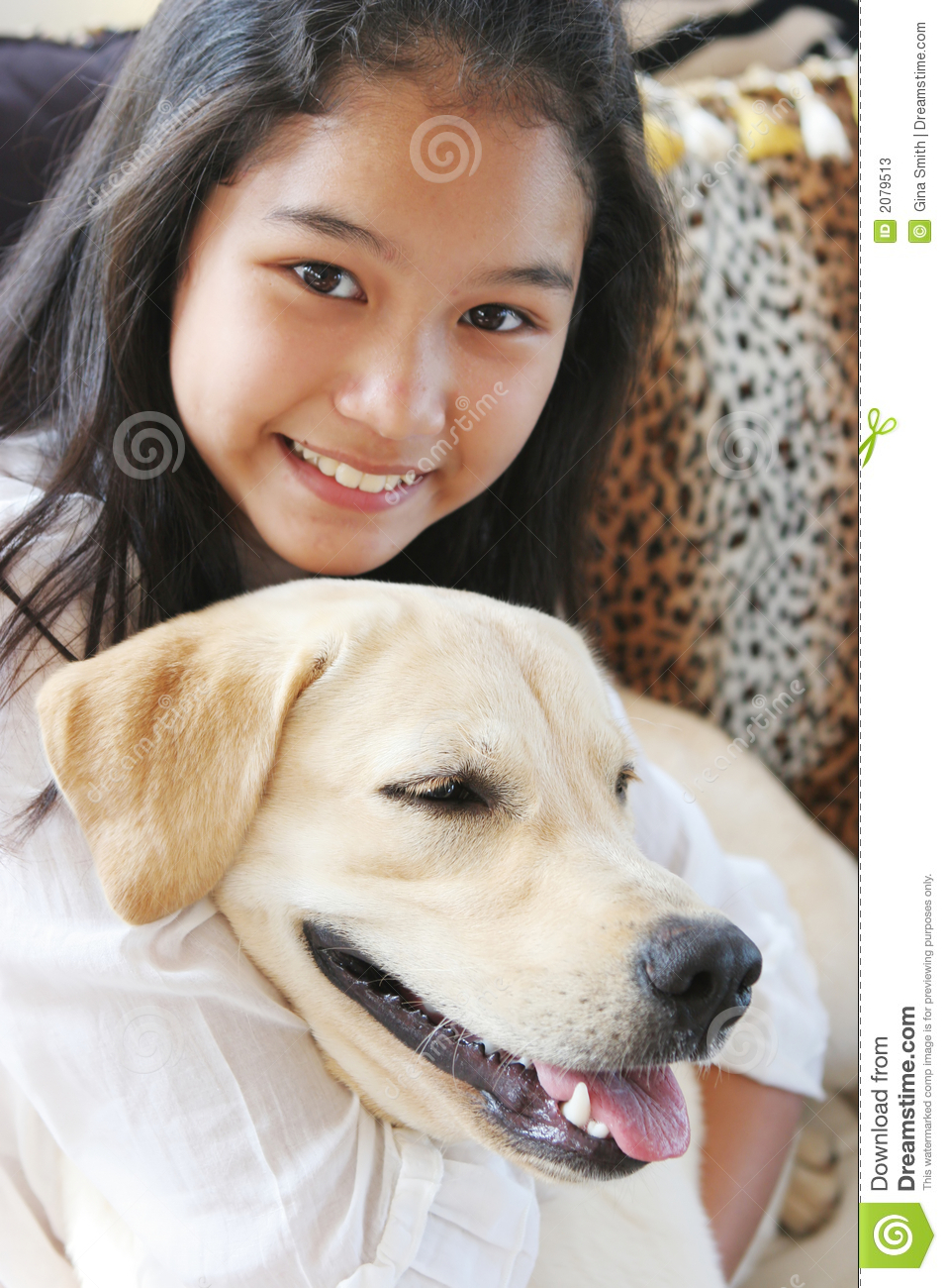 Asian girls and dogs