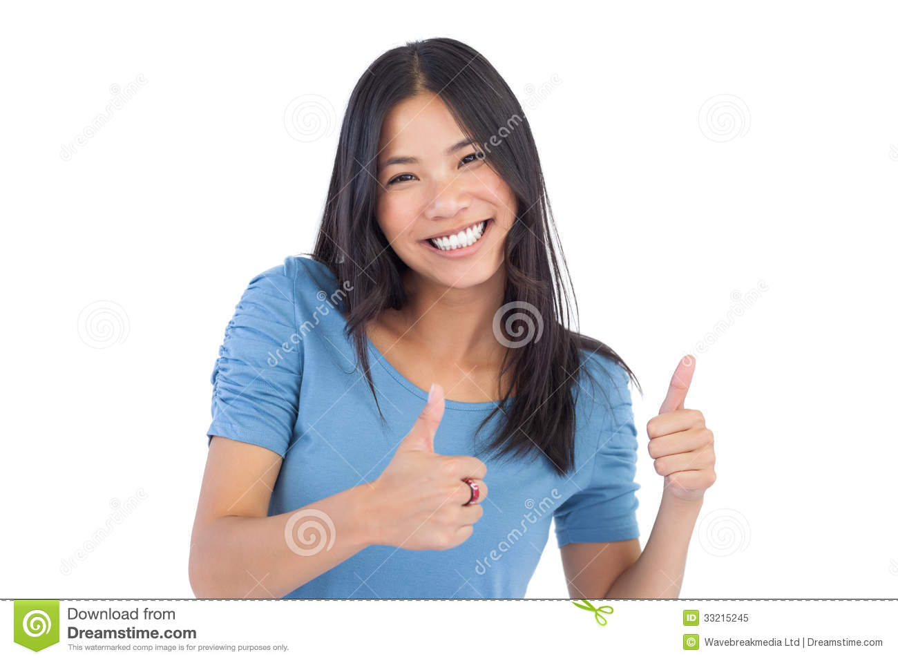 Smiling chinese teen gives