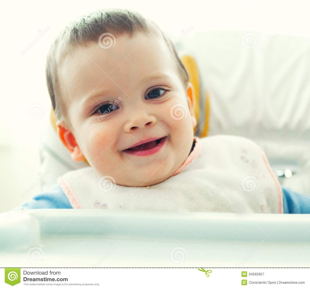 Smiling Baby Boy Stock Image Image Of Pleased Eyes 34565957