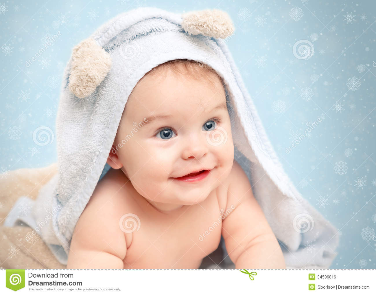 Smiling Baby Royalty Free Stock Image  Image: 34596816