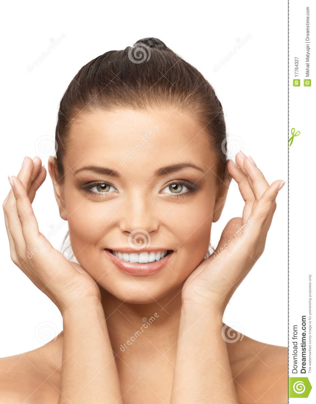 Smiling Beautiful Woman With Perfect Skin Royalty Free