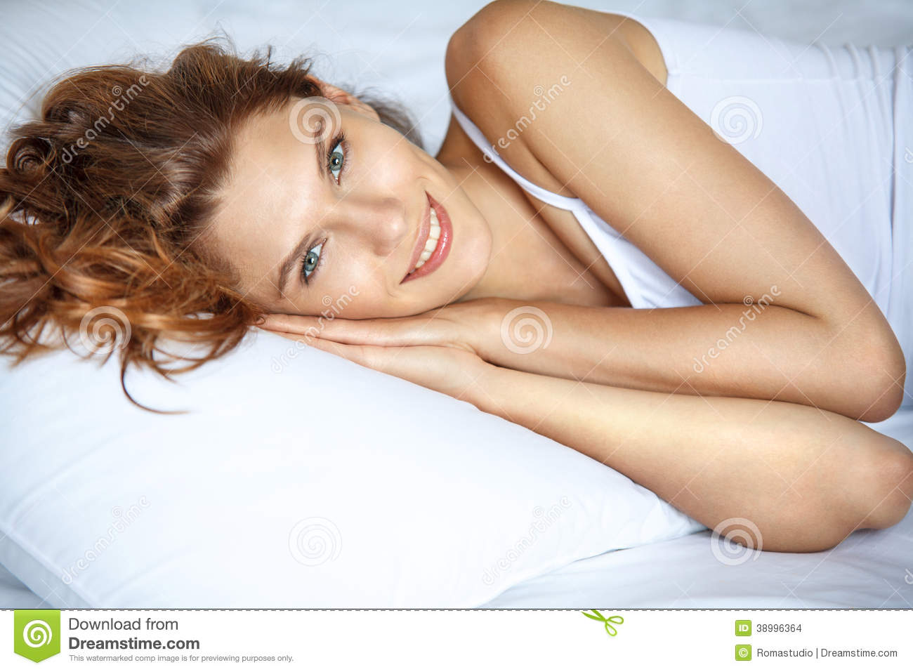 Smiling in bed