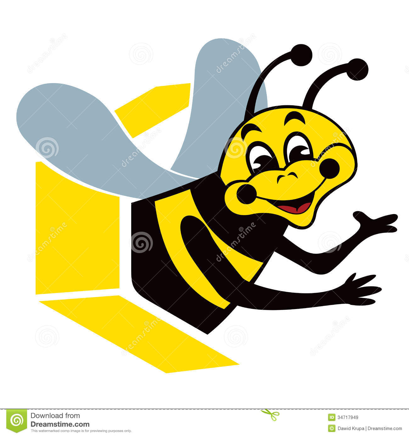 smiling bee royalty free stock images