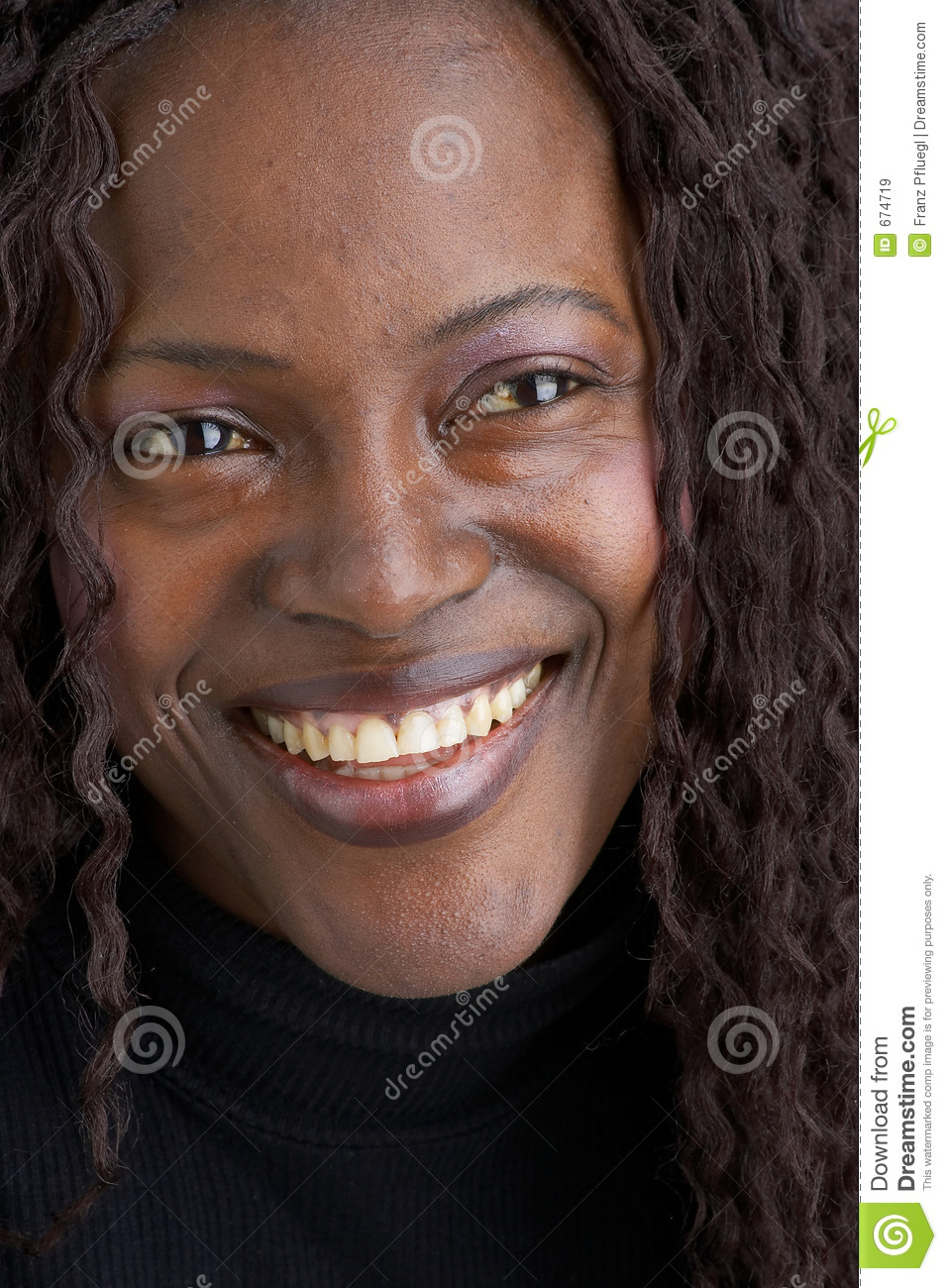 Smiling Black Girl Stock Image. Image Of Pretty, Exotical