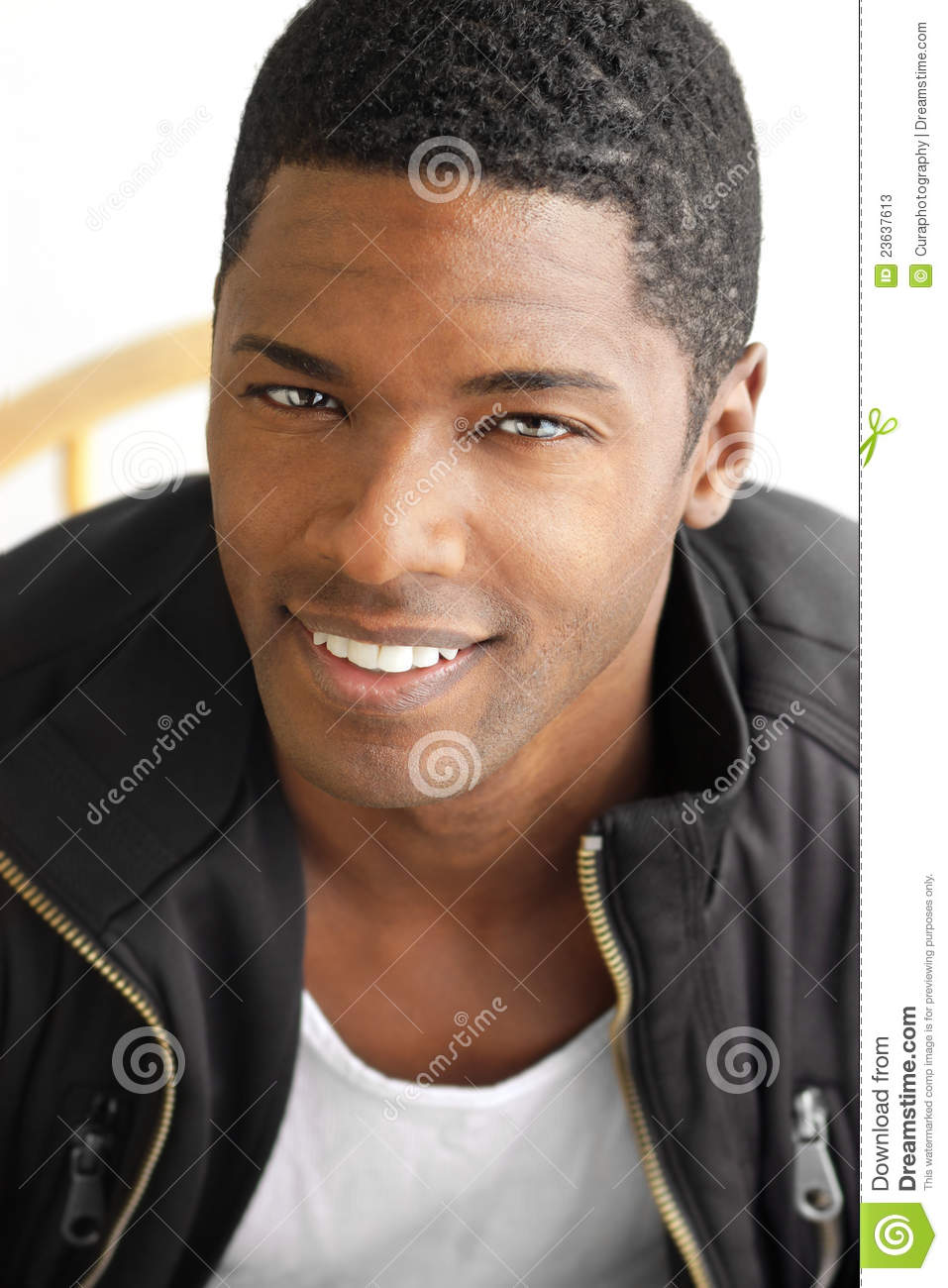 Smiling Black Man Stock Image Image Of Beauty Looking