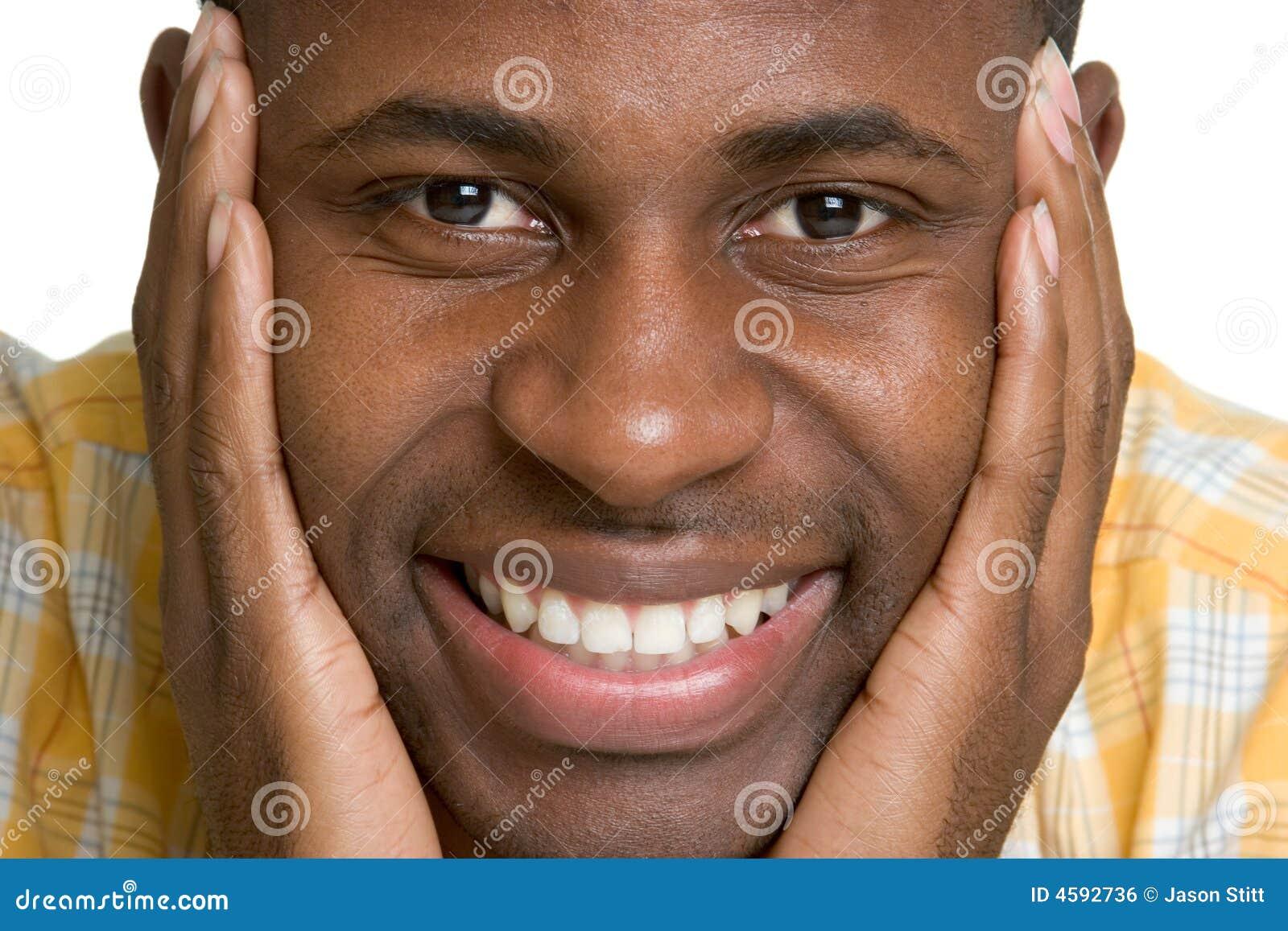 Smiling Black Man stock photo. Image of boys, american ...