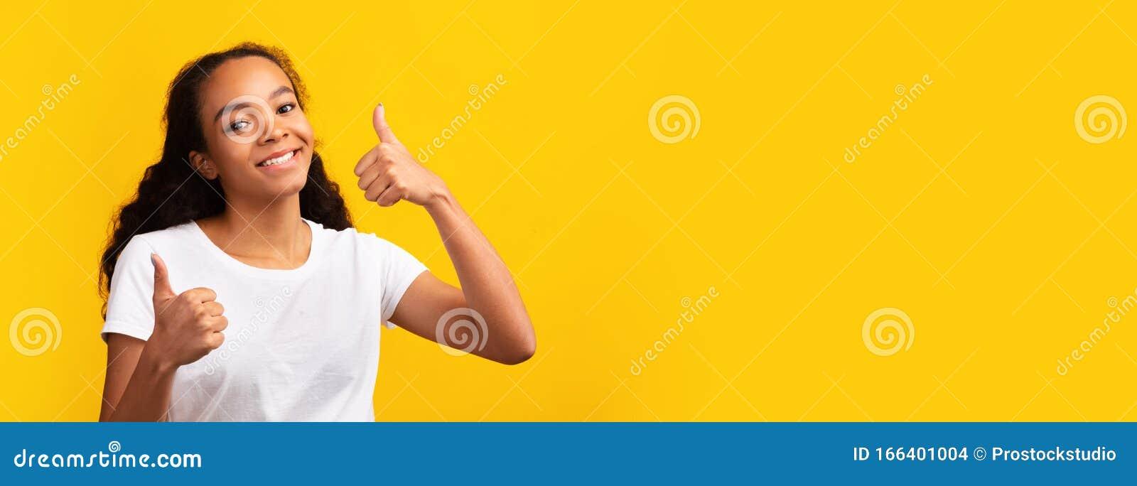 Black teen thumbs