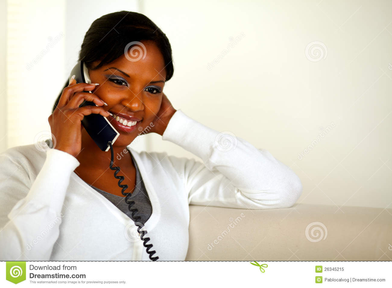 Accept. opinion, Black girl on phone think, you