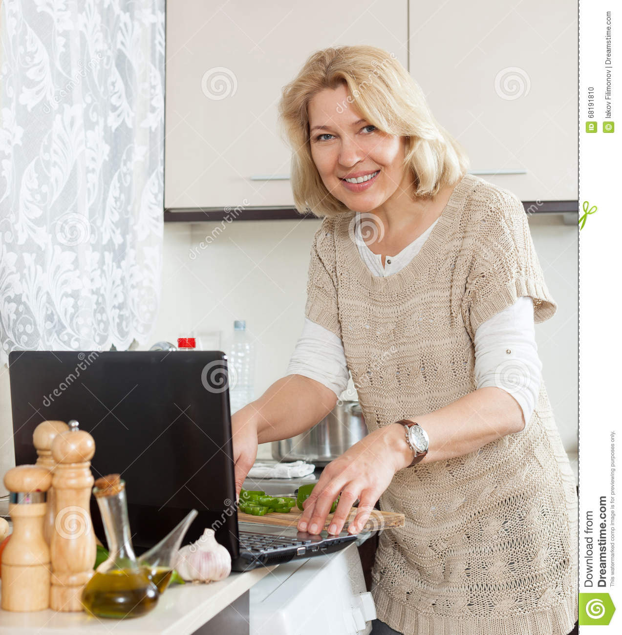 Was specially blonde in kitchen mature with you