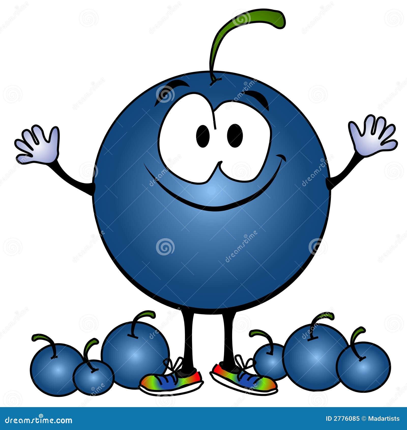 Smiling Blueberry Cartoon Face Royalty Free Stock Photo ...