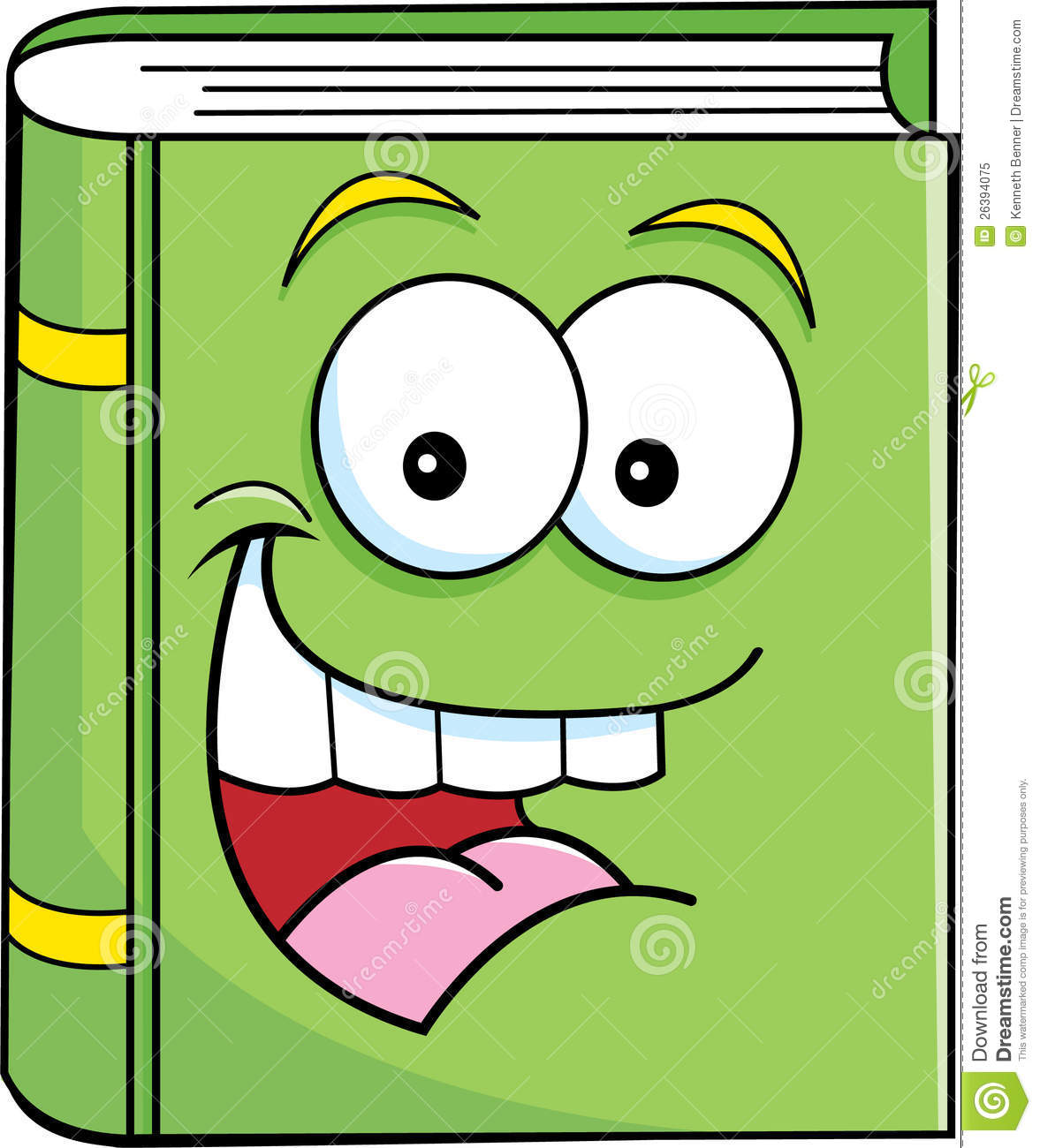 Smiling Book Stock Vector Image Of Smiling Cartoon