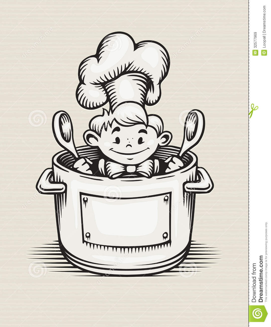 smiling boy cooking in the kitchen royalty free stock