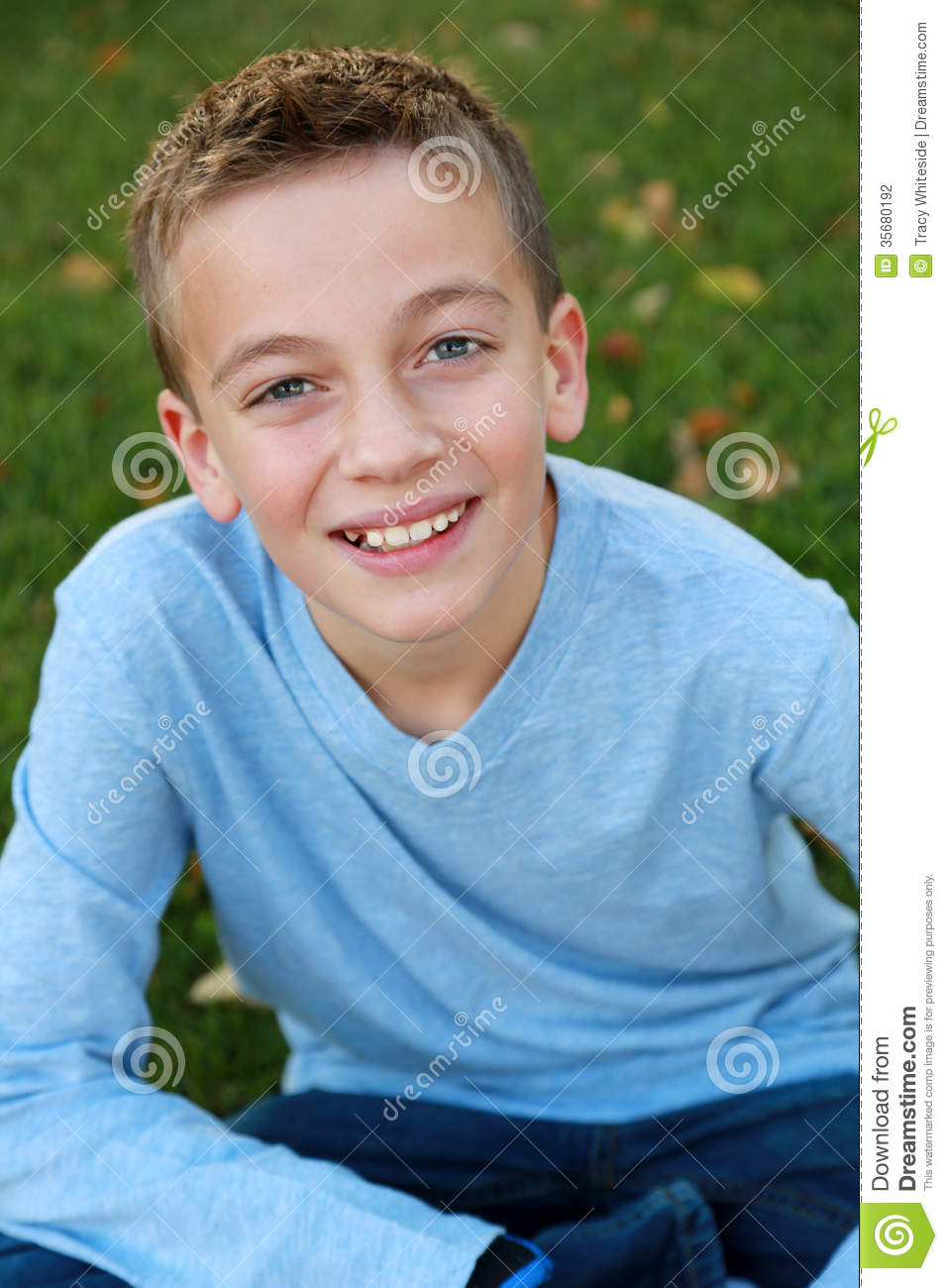 Smiling Boy In Natural Light Stock Photography Image