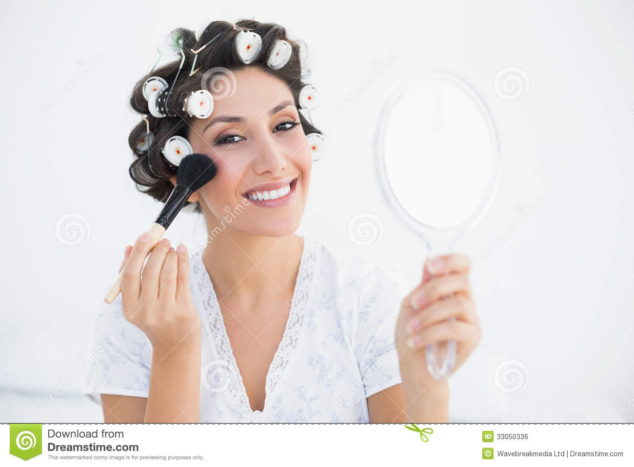 Woman Holding Hand Mirror Stock Illustration | Getty Images