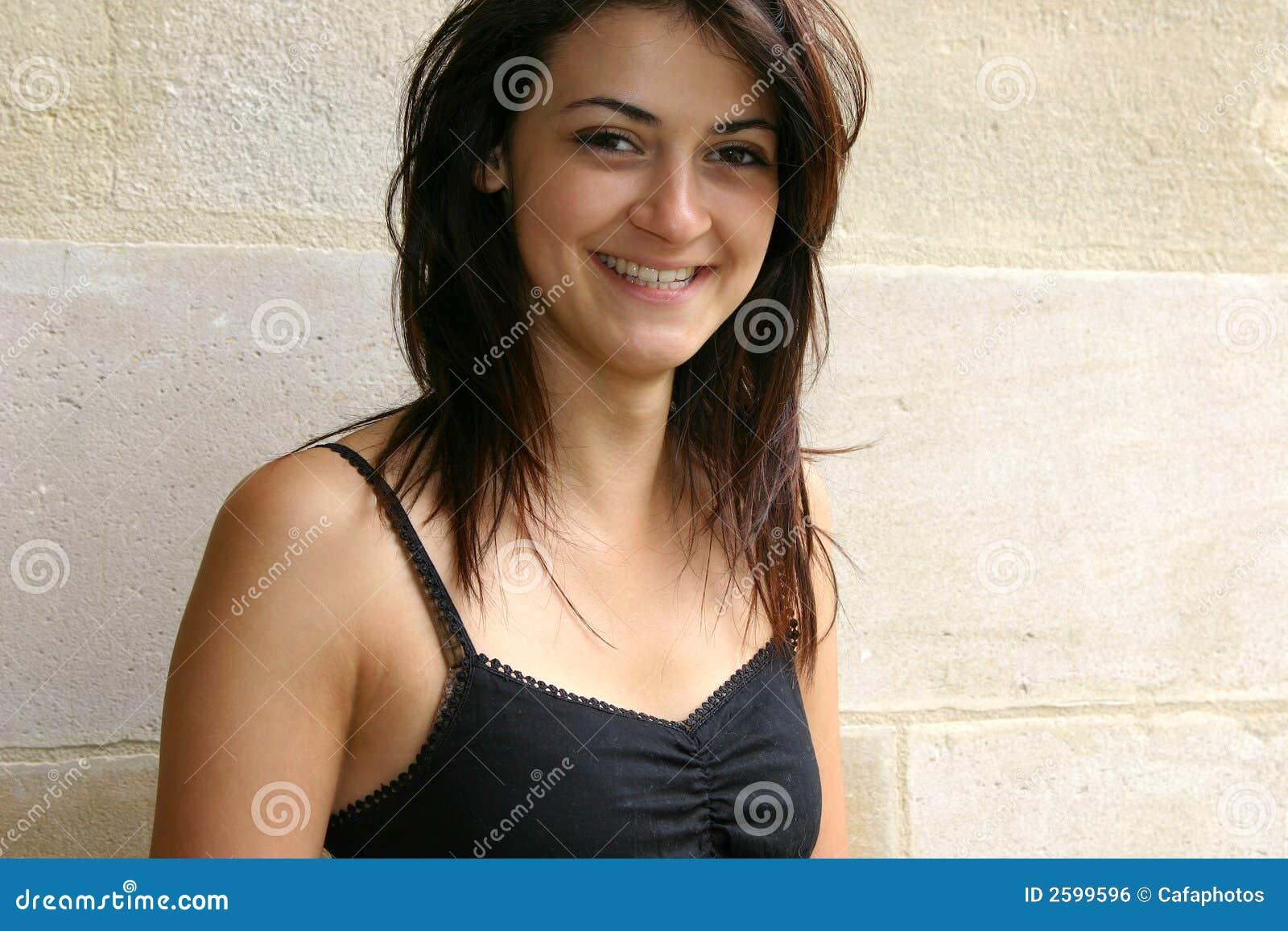 Smiling Brunette Women