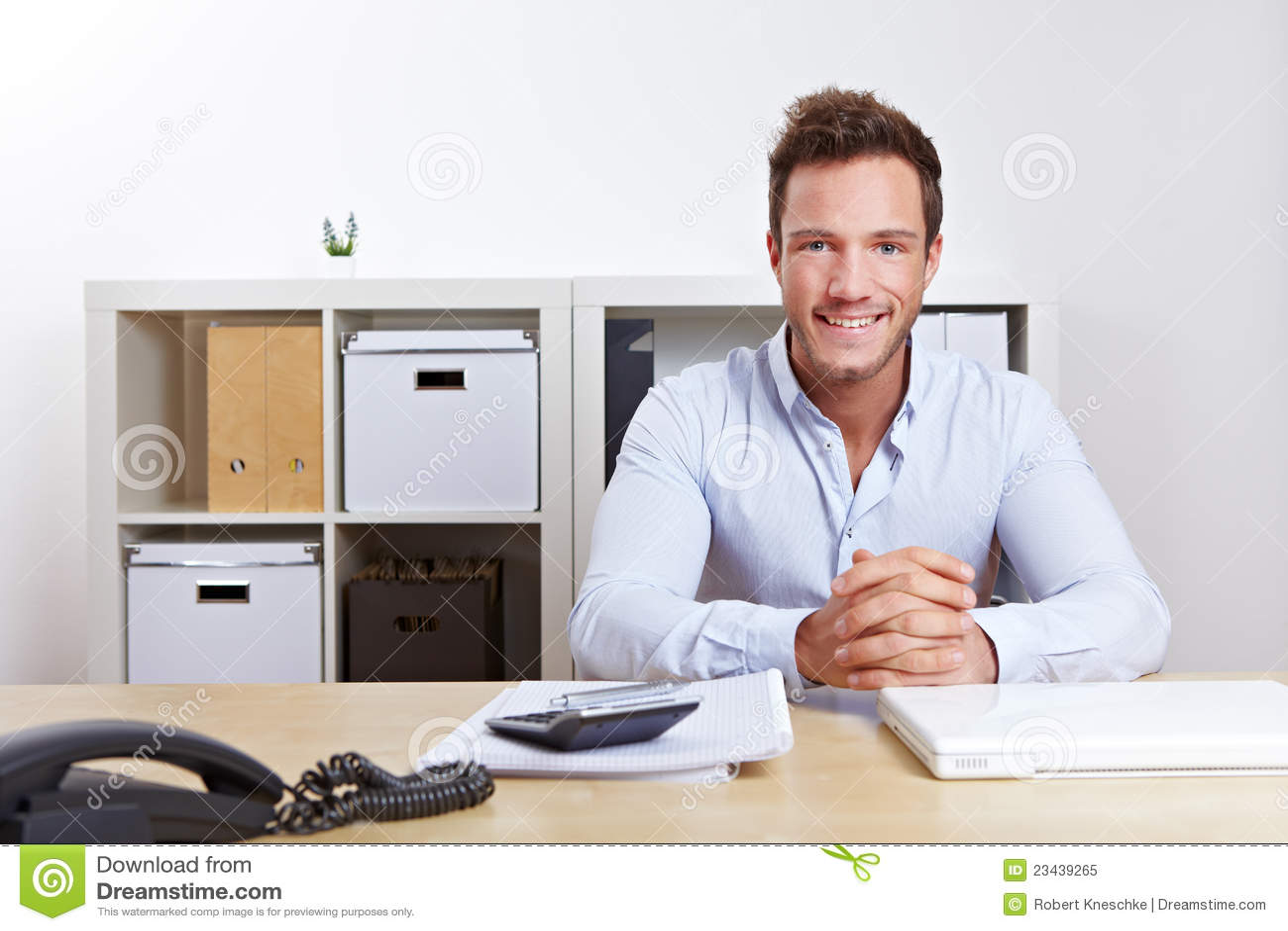 Smiling business consultant