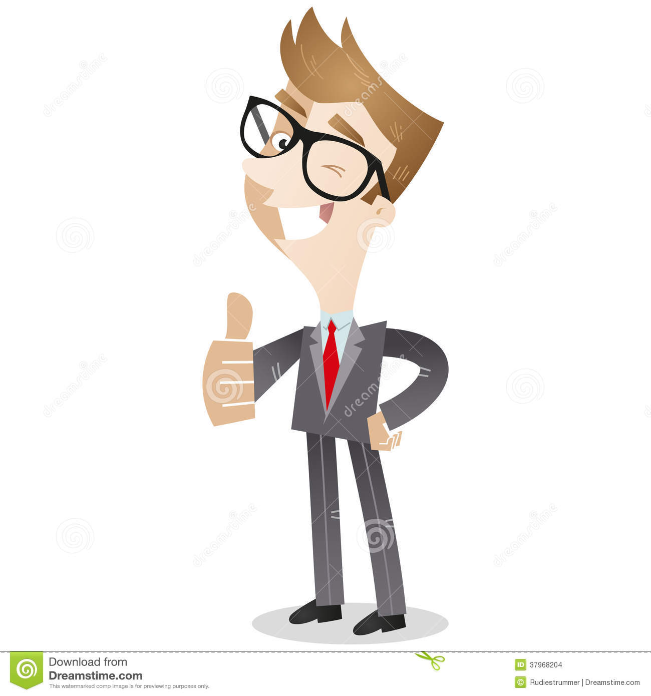Smiling Business Giving The Thumbs Up Stock Images - Image ...