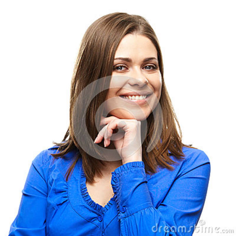 Smiling business woman isolated portrait