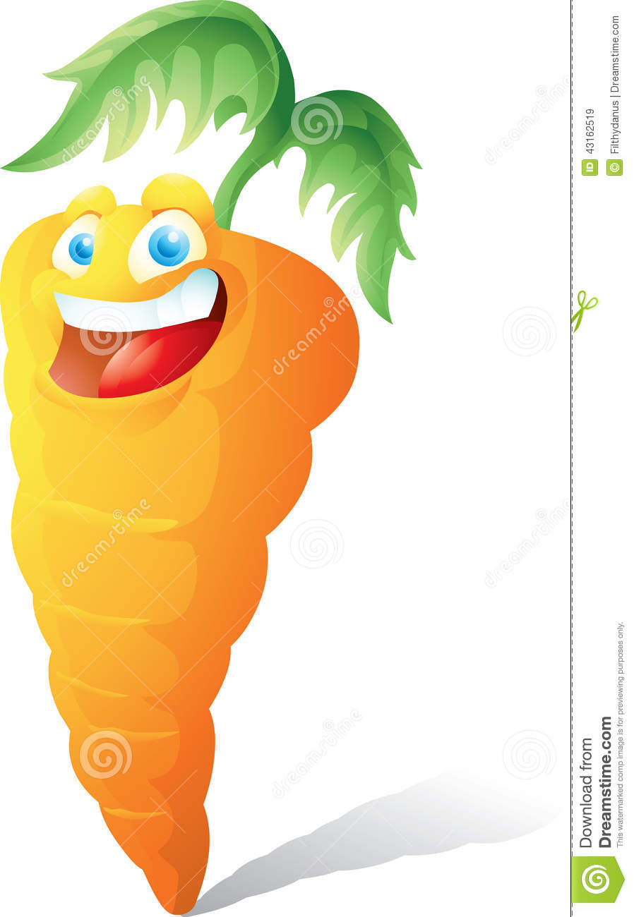 Smiling Carrot Cartoon Stock Vector Image 43162519