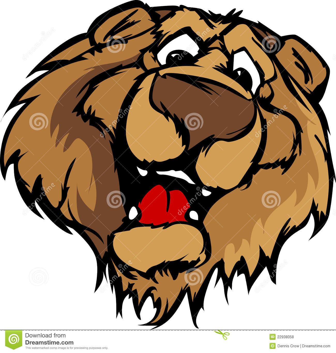 Smiling Cartoon Bear Mascot Graphic Royalty Free Stock Photos - Image ... Grizzly Bear Face Logo