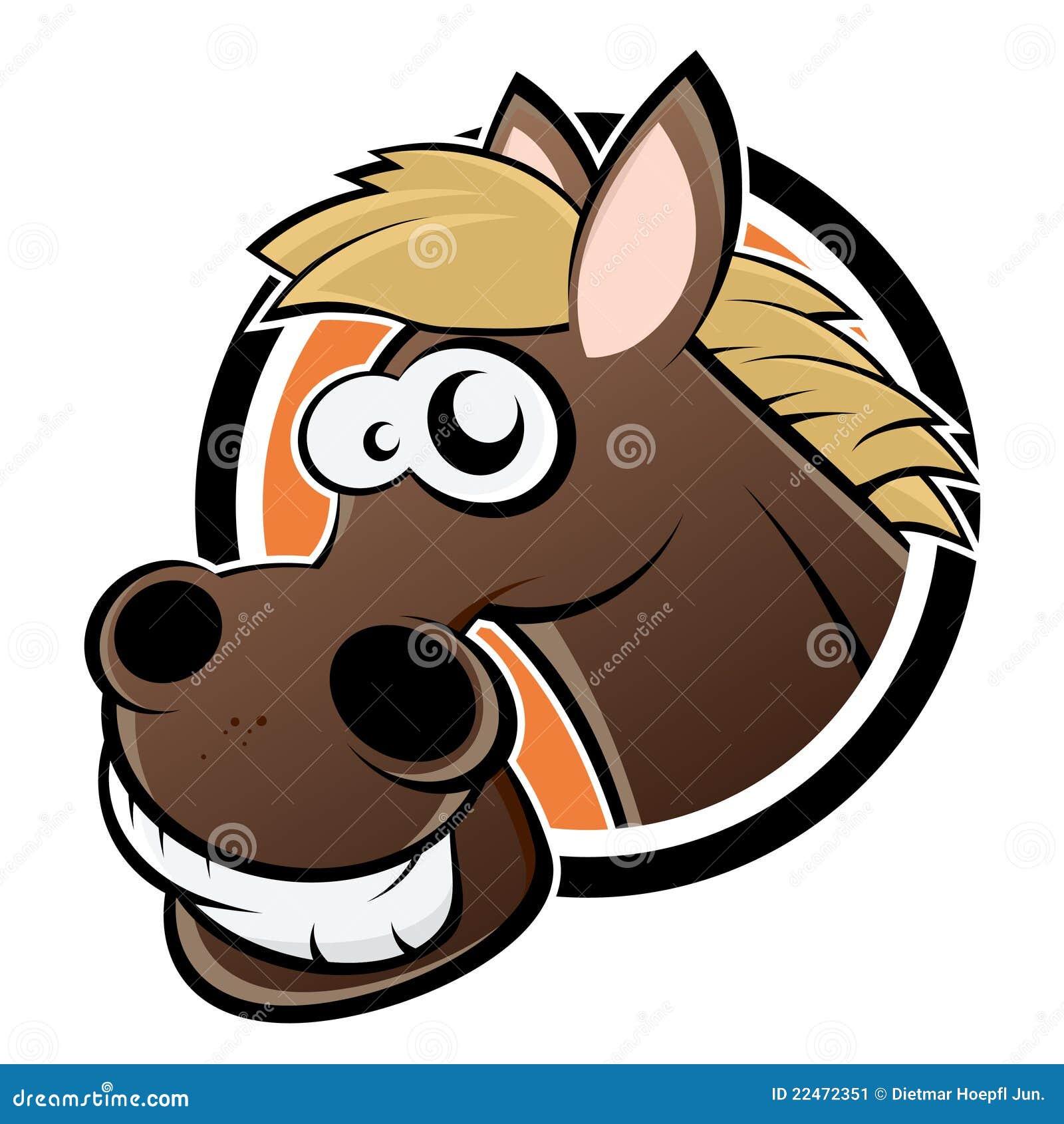 Smiling Cartoon Horse Stock Image Image 22472351