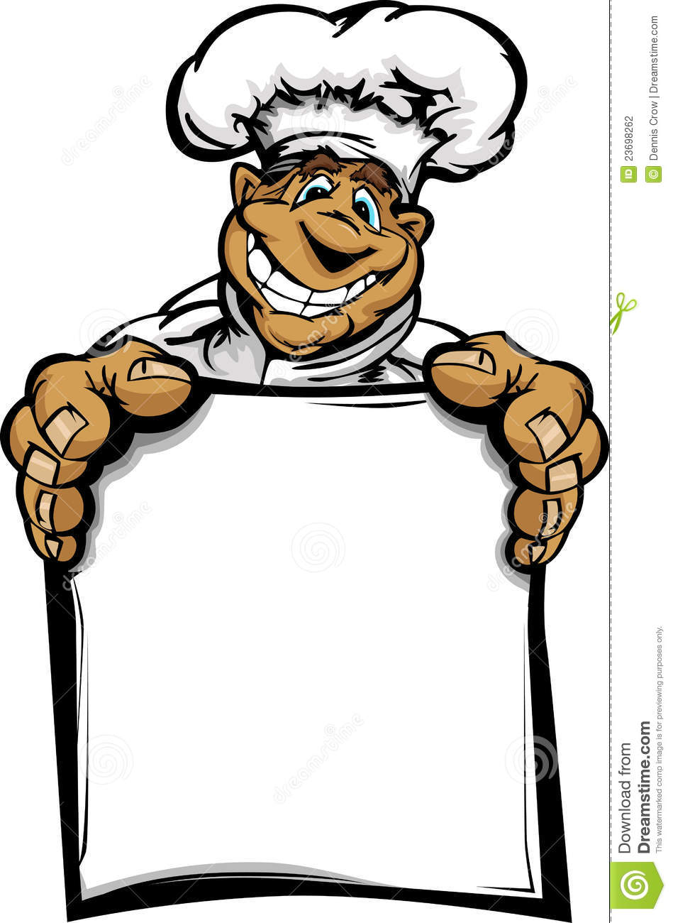 Restaurant Chef or Cook Mascot with Happy Smiling Face Wearing Chefs ...
