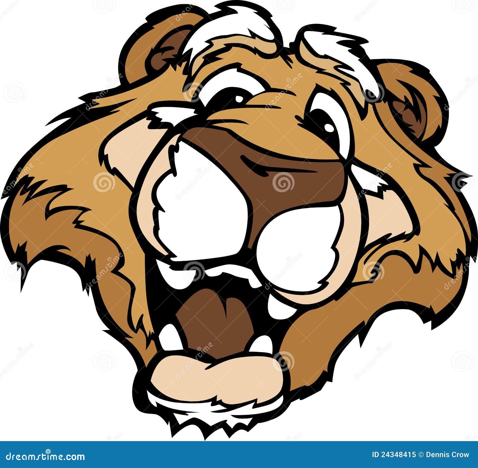 smiling cartoon mountain lion or cougar mascot stock vector rh dreamstime com cartoon mountain lion images mountain lion cartoon drawing
