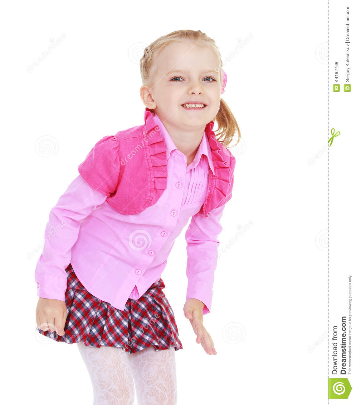 Smiling charming young girl on a white background stock photo image 44192766 - Charming teenage girls image ...