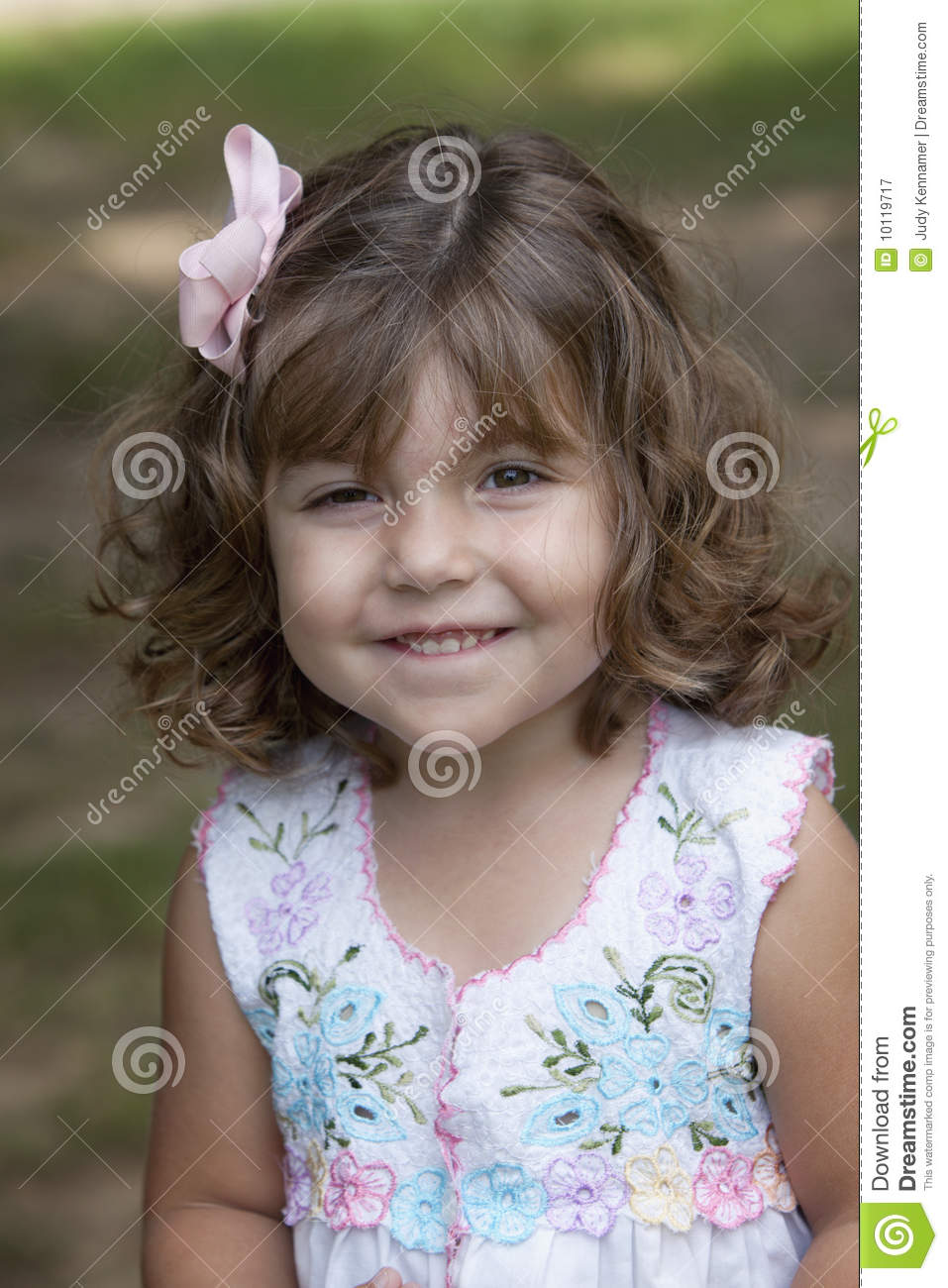 Little Girl Natural Curly Hair