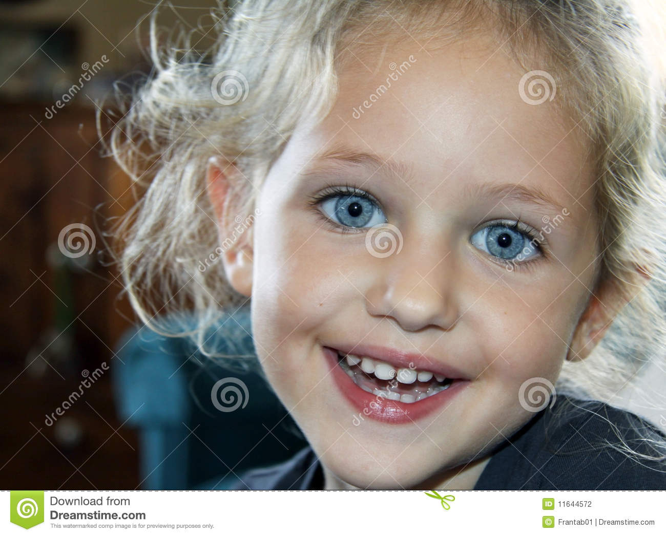 Smiling Child Portrait Stock Photo Image Of Cheerful
