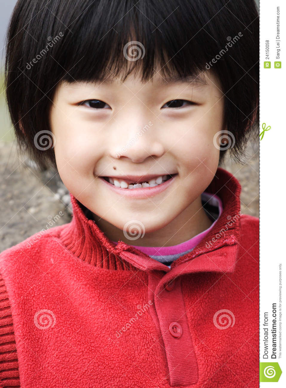 Smiling chinese little girl