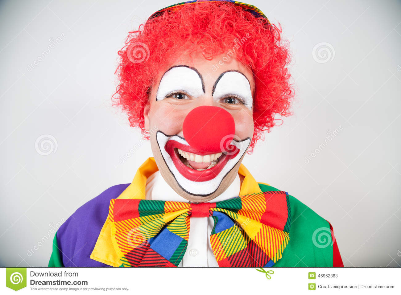 smiling clown stock image image of funny buffoon adult