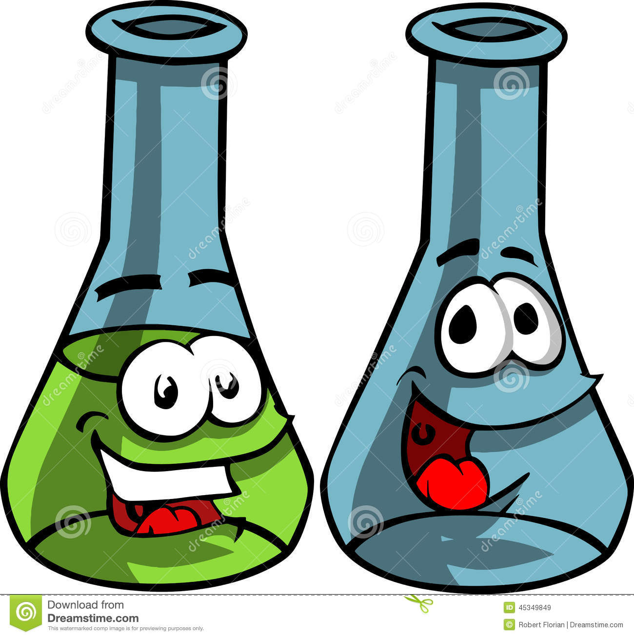 smiling conical laboratory chemical flasks stock vector cylinder clipart black and white cylinder images clip art